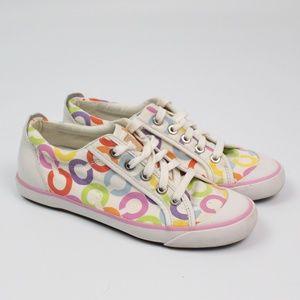 Coach Barrett signature sneakers white pastel shoe